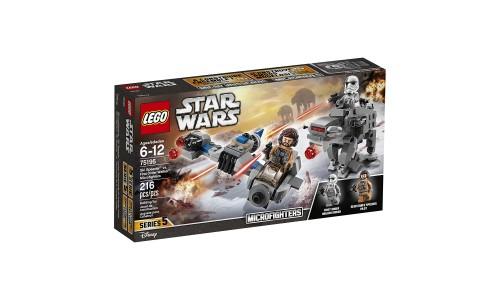 Уценка. Конструктор LEGO Звездные войны Бой пехотинцев Первого Ордена против спидера на лыжах