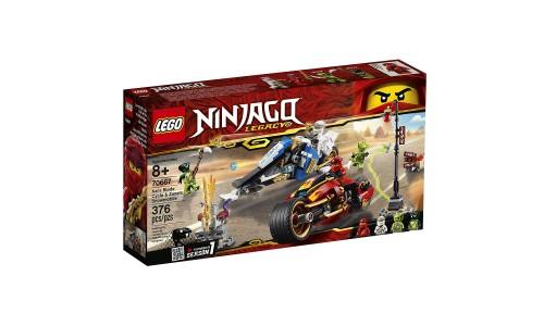 Конструктор LEGO Ninjago «Мотоцикл-клинок Кая и снегоход Зейна»