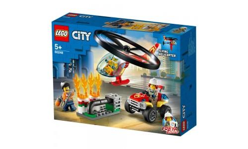 Конструктор LEGO City пожарный спасательный вертолёт
