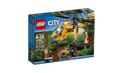 Конструктор LEGO City Jungle Explorer 60158 Грузовой вертолёт