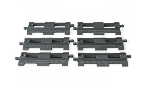 6 прямых рельсов 2734 Лего Дупло (Lego Duplo)