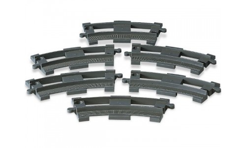 6 закругленых рельсов 2735 Лего Дупло (Lego Duplo)