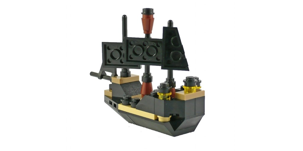 Лего Пираты карибского моря (Lego Pirates of the Caribbean) конструктор 30130 Чёрная жемчужина (минимодель) купить в Москве, цен