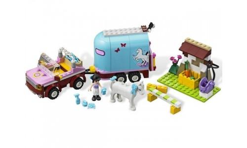 Эмма и трейлер для её лошадки 3186 Лего Подружки (Lego Friends)