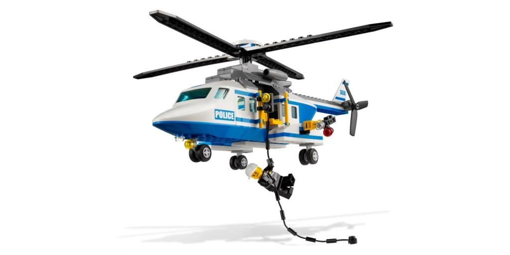 Как сделать из лего вертолёт полицейский с