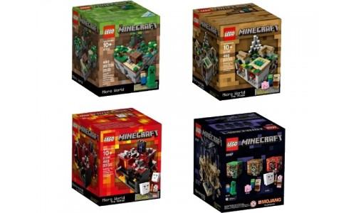 Коллекция наборов из серии Майнкрафт микро мир 5004192 Лего Майнкрафт (Lego Minecraft)