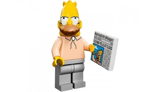 Минифигурки Симпсоны - Дед (Абрахам Симпсон) 71005-6 Лего Минифигурки (Lego Minifigures)