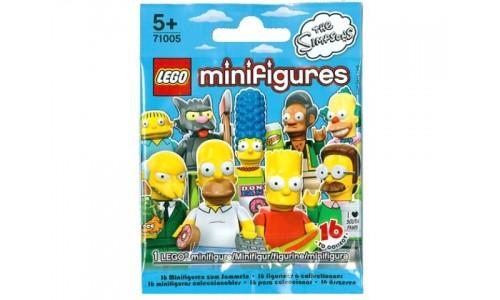 Минифигурка Симпсоны (неизвестная, 1 из 16 возможных) 71005 Лего Минифигурки (Lego Minifigures)