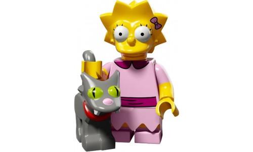 Минифигурки Симпсоны 2-й выпуск - Лиза и Снежинка II 71009-3 Лего Минифигурки (Lego Minifigures)