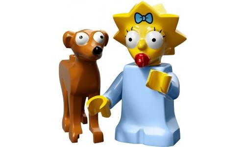 Минифигурки Симпсоны 2-й выпуск - Мэгги и Маленький помощник Санты 71009-4 Лего Минифигурки (Lego Minifigures)