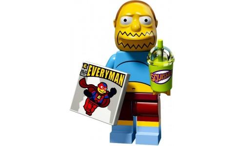 Минифигурки Симпсоны 2-й выпуск - Продавец комиксов 71009-7 Лего Минифигурки (Lego Minifigures)