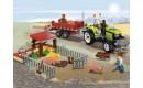 Свиноферма и трактор