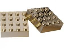 Магниты: Два золотых кирпичика 4х4 - 852745