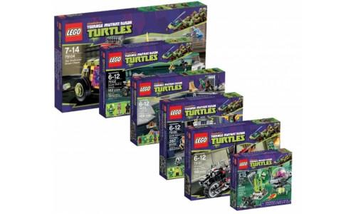 Полная коллекция наборов Черепашки ниндзя 2013 Turtles-pack Лего Черепашки ниндзя (Lego Teenage Mutant Ninja Turtles)