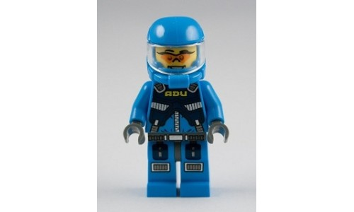 Alien Defense Unit Soldier 1 - Dark Bluish Gray Hips ac001