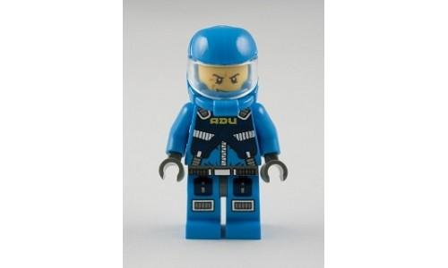 Alien Defense Unit Soldier 2 - Dark Bluish Gray Hips ac005