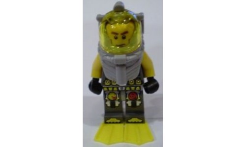 Atlantis Diver 1 - Axel - With Yellow Flippers and Trans-Yellow Visor atl016