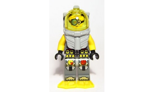 Atlantis Diver 7 - Brains - With Yellow Flippers and Trans-Yellow Visor atl023