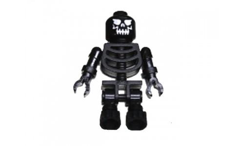Skeleton Black with Evil Skull gen013