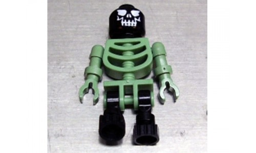 Skeleton Sand Green with Black Legs and Black Head with Evil Skull gen014