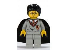 Harry Potter, Gryffindor Shield Torso, Light Gray Legs, Black Cape with Stars - hp005