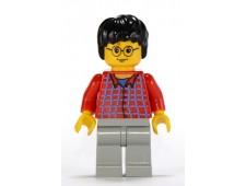 Harry Potter, Red Shirt Torso, Light Gray Legs - hp025