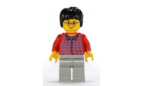 Harry Potter, Red Shirt Torso, Light Gray Legs hp025
