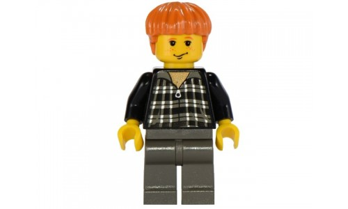 Ron Weasley, Black and White Plaid Shirt hp032