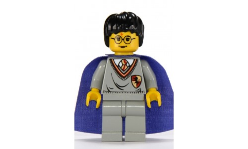 Harry Potter, Gryffindor Shield Torso, Light Gray Legs, Violet Cape hp036