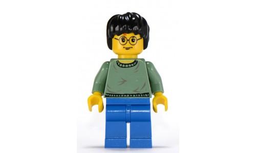 Harry Potter, Sand Green Sweater Torso, Blue Legs hp038