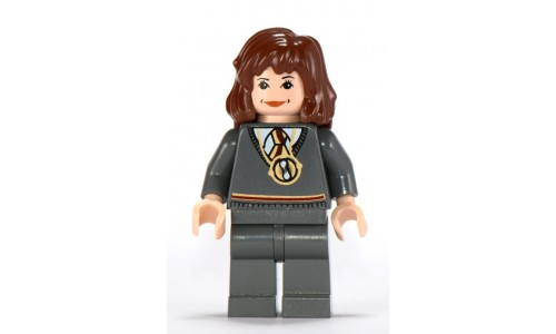 Hermione, Gryffindor Stripe Torso Necklace, Dark Bluish Gray Legs hp054