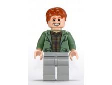 Arthur Weasley, Sand Green Open Jacket, Light Bluish Gray Legs - hp089