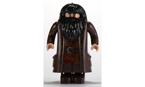Hagrid, Dark Brown Topcoat with Buttons (Light Flesh Version with Moveable Hands) hp111