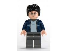 Harry Potter, Dark Blue Open Jacket with Stripe, Dark Bluish Gray Legs - hp116