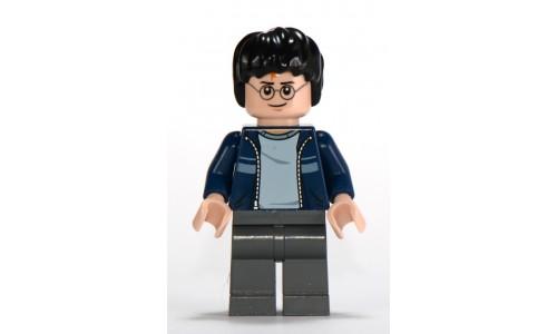 Harry Potter, Dark Blue Open Jacket with Stripe, Dark Bluish Gray Legs hp116