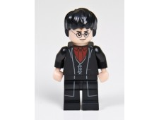 Harry Potter, Black Long Coat and Vest, Dark Red Shirt and Tie - hp133