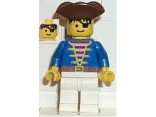 Pirate Blue Shirt, White Legs, Brown Pirate Triangle Hat - pi009