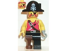 Pirate Shirt with Knife, Black Leg with Peg Leg, Black Pirate Hat with Skull - pi022