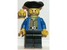 Pirate Brown Shirt, Black Legs, Black Pirate Triangle Hat - pi033