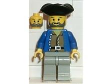 Pirate Brown Shirt, Light Gray Legs, Black Pirate Triangle Hat - pi035
