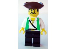 Pirate Green Shirt, Black Legs, Brown Pirate Triangle Hat - pi048