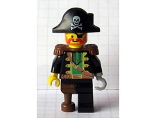 Captain Red Beard with Pirate Hat with Skull - pi055