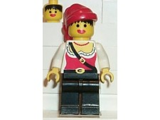 Pirate Female, Black Legs, Red Bandana - pi057