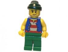 Pirate Blue Vest, Green Legs, Dark Green Bandana, Smirk and Stubble Beard - pi108
