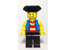 Pirate Blue Vest, Black Legs, Tricorne Hat - pi127