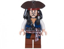 Captain Jack Sparrow with Tricorne and Blue Vest - poc024