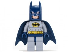 Batman - Light Bluish Gray Suit with Yellow Belt and Crest - sh025