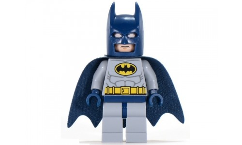 Batman - Light Bluish Gray Suit with Yellow Belt and Crest sh025