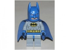 Batman - Light Bluish Gray Suit with Yellow Belt and Crest, Blue Mask and Cape - sh111