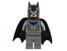 Batman - Dark Bluish Gray Suit, Gold Belt, Black Hands, Spongy Cape - sh151